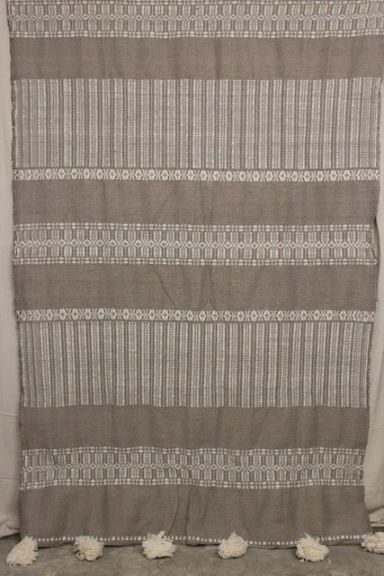 Moroccan Blanket (#LW3-10) - Large Cotton & Wool