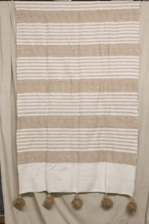 Moroccan Blanket (#SC1-72) - Small Cotton