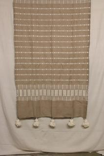 Moroccan Blanket (#SW2-40) - Small Cotton & Wool