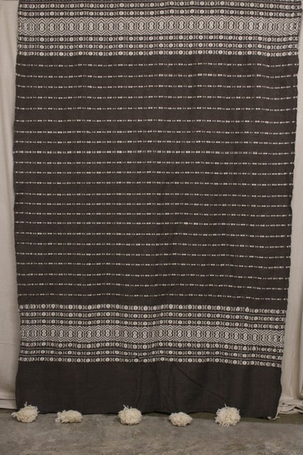 Moroccan Blanket (#LW2-28) - Large Cotton & Wool