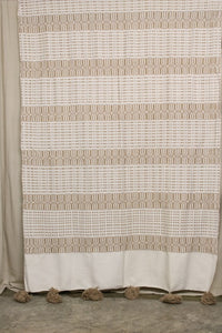 Moroccan Blanket (#LC2-66) - Large Cotton