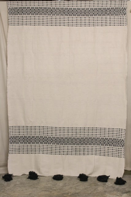 Moroccan Blanket (#LC2-54) - Large Cotton