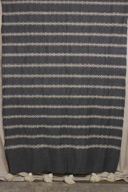 Moroccan Blanket (#LW1-17) - Large Cotton & Wool