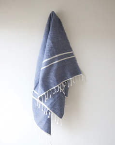 Blue & White Beach Throw