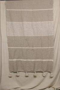 Moroccan Blanket (#SCS-70) - Small Cotton