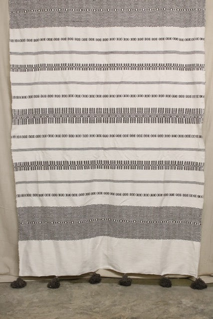 Moroccan Blanket (#LC3-44) - Large Cotton