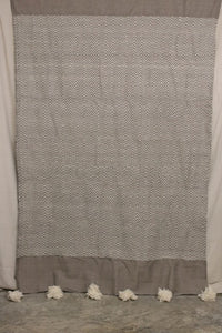 Moroccan Blanket (#LC1-36) - Large Cotton