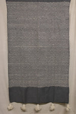 Load image into Gallery viewer, Moroccan Blanket (#SW1-8) - Small Cotton & Wool