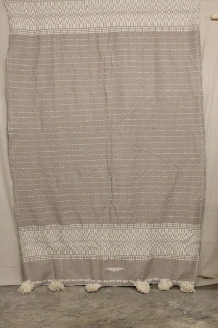Moroccan Blanket (#LW2-41) - Large Cotton & Wool