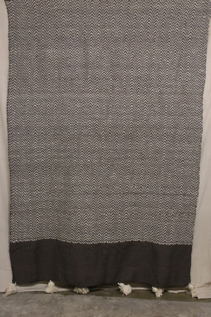 Moroccan Blanket (#LW1-37) - Large Cotton & Wool