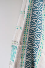 Load image into Gallery viewer, Moroccan Blanket - Large Pattern - Lime & Aqua