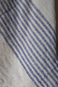 Moroccan Blanket - Medium #7 - Mist & Blue