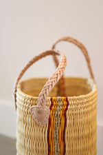 Load image into Gallery viewer, Palm Round Basket Stripe - Large