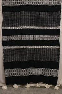 Moroccan Blanket (#LW3-27) - Large Cotton & Wool