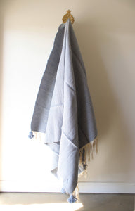 Pale Blue Medium Blanket - Cotton & Wool