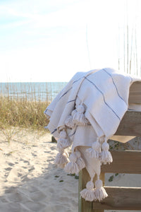 SIGNATURE BEACH BLANKET- SMALL SOLID COTTON
