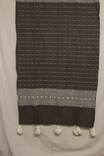 Moroccan Blanket (#SW2-30) - Small Cotton & Wool