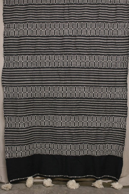 Moroccan Blanket (#LW2-34) - Large Cotton & Wool