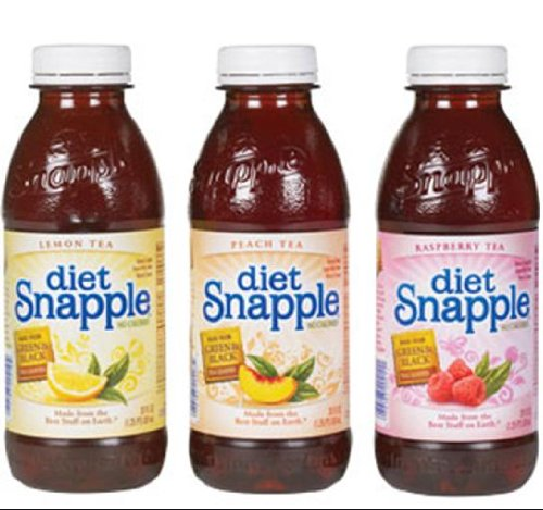 Snapple Diet Iced Tea Variety Pack 20 oz PET - Pack of 24