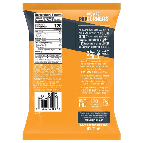 Popcorners Spicy Queso 1 oz Bag Pack of 40