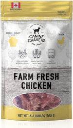 Canine Cravers Farm Fresh Chicken Single Ingredient Dog Treats 5.3 oz pouch
