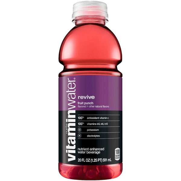 Vitamin Water Revive Fruit Punch 20 oz PET - Pack of 12