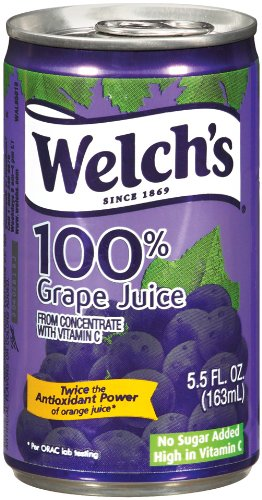 Welch's 100% Grape Juice 5.5 oz Can - Pack of 48