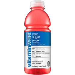 Vitamin Water Zero Go-Go Berry 20 oz PET Pack of 12