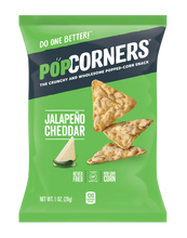 Load image into Gallery viewer, Popcorners Jalapeno Cheddar 1 oz Bag Pack of 40