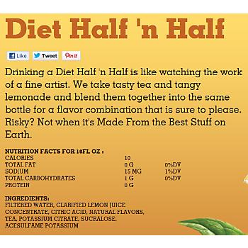 Snapple Diet Half 'n Half 16 oz PET - Pack of 24