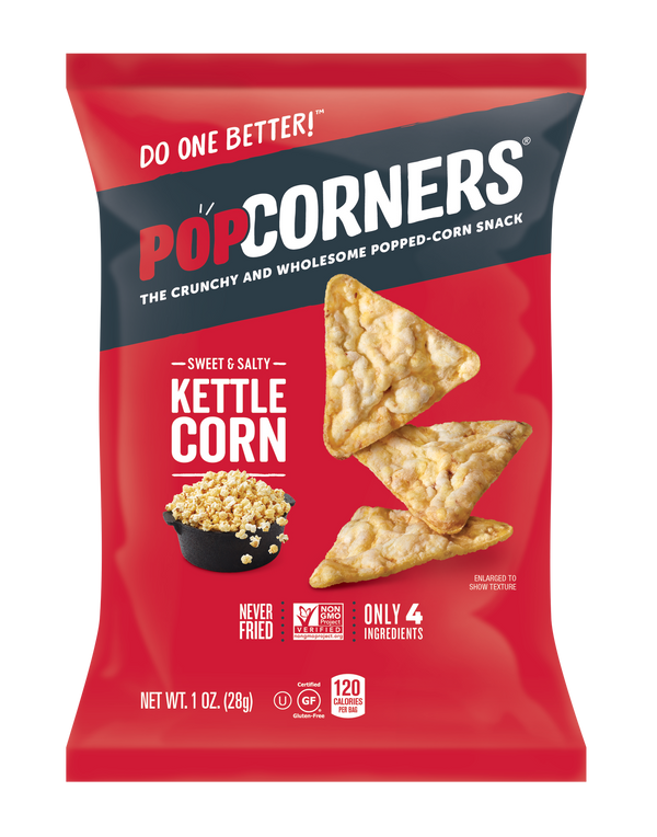 Popcorners Kettle Corn 1 oz Bag Pack of 40