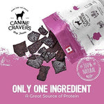 Canine Cravers Tender Pork Thins Single Ingredient Dog Treats 5.3 oz pouch