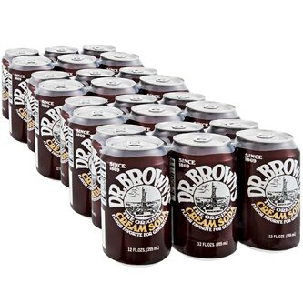 Dr. Brown's Cream Soda 12 oz Can Pack of 24