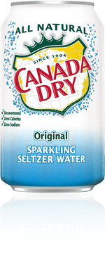 Canada Dry Seltzer 12 oz Can - Pack of 24