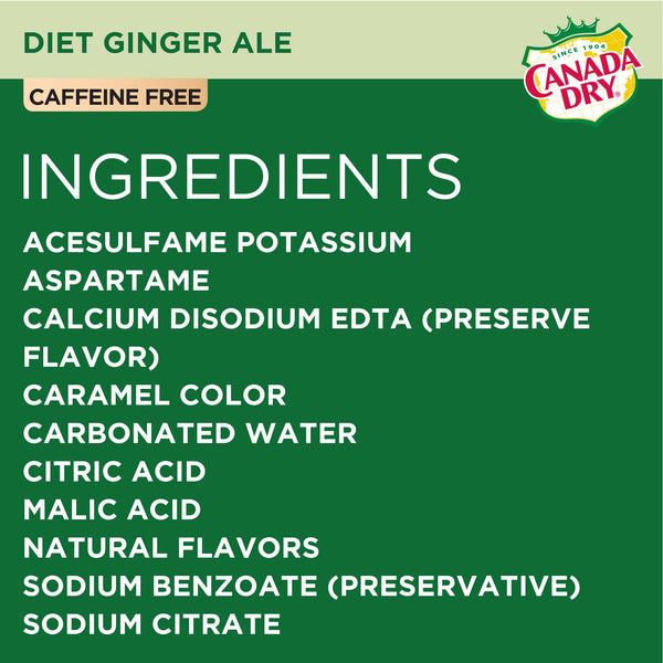 Diet Canada Dry Ginger Ale 12 oz Can - Pack of 24