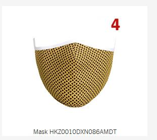 Cloth Mask #4 / yellow and black