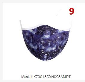 Cloth Mask #9 navy swirl
