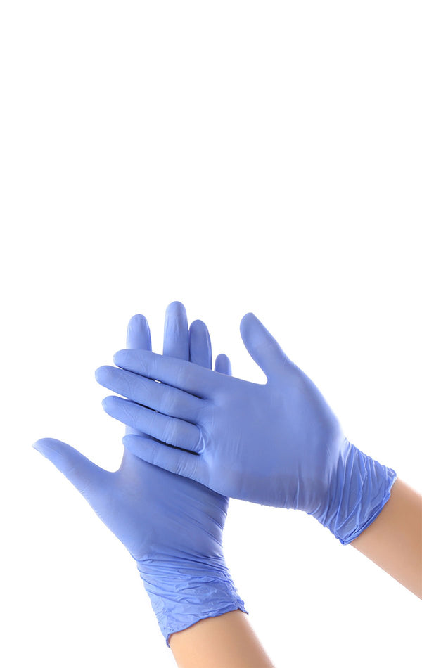 Blue Nitrile Disposable Gloves - 200 pcs