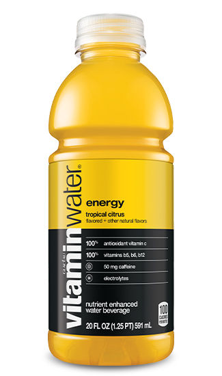 Vitamin Water Energy Tropical Citrus 20 oz PET Pack of 12