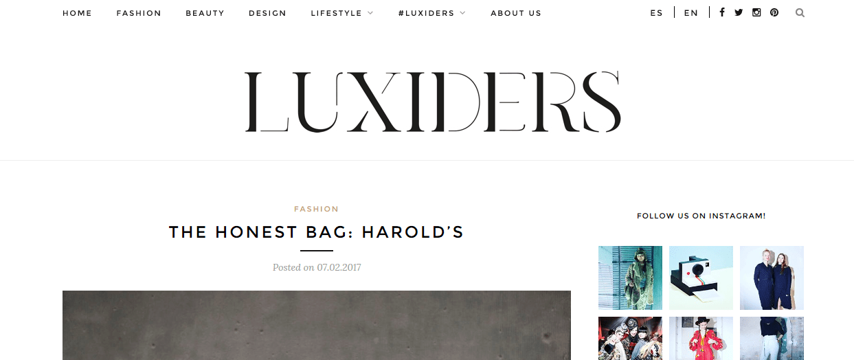 The Story of an honest and atemporal beautiful Bag - Harold's in Luxiders Magazine