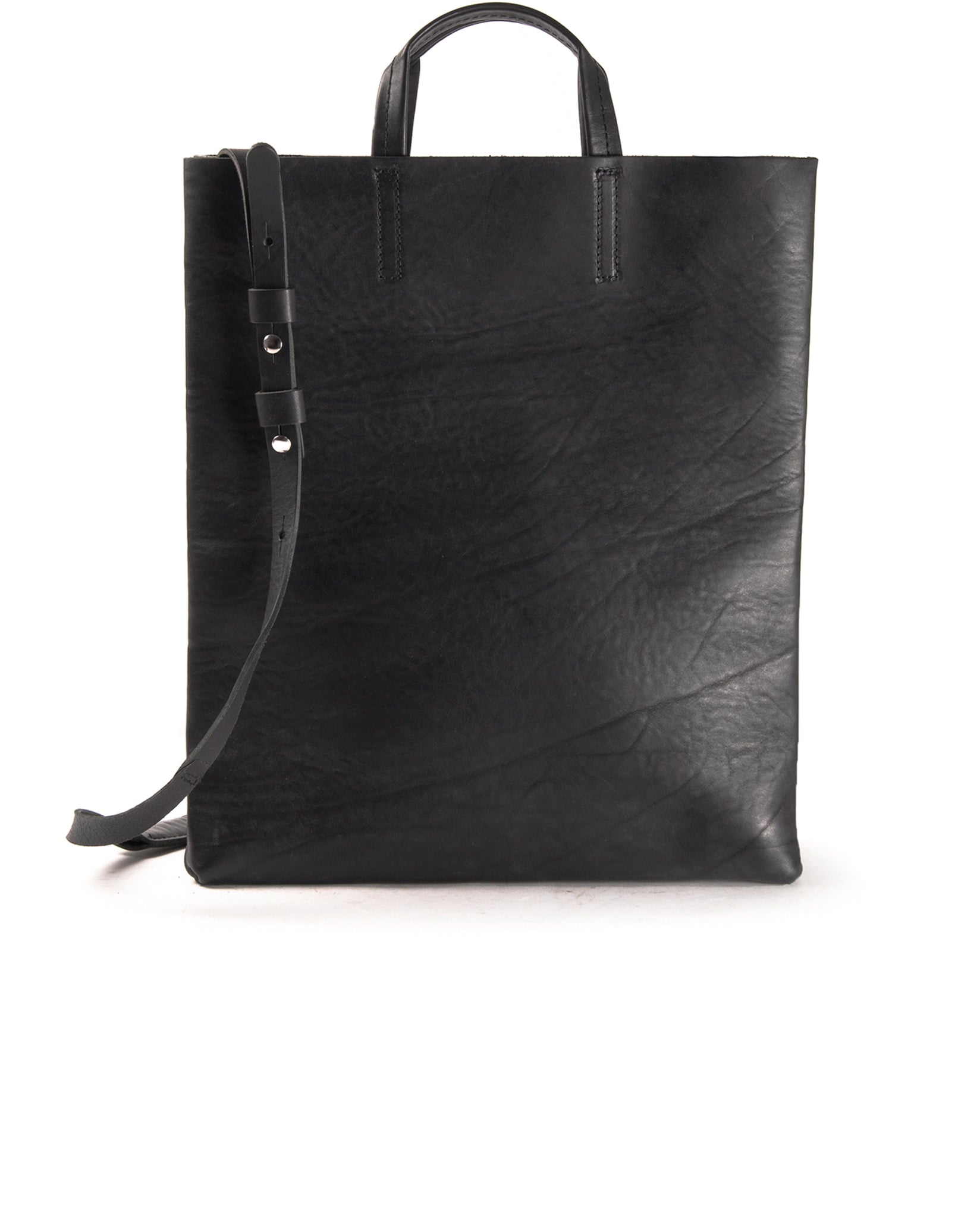 Kraud' Leather paperbag with belt