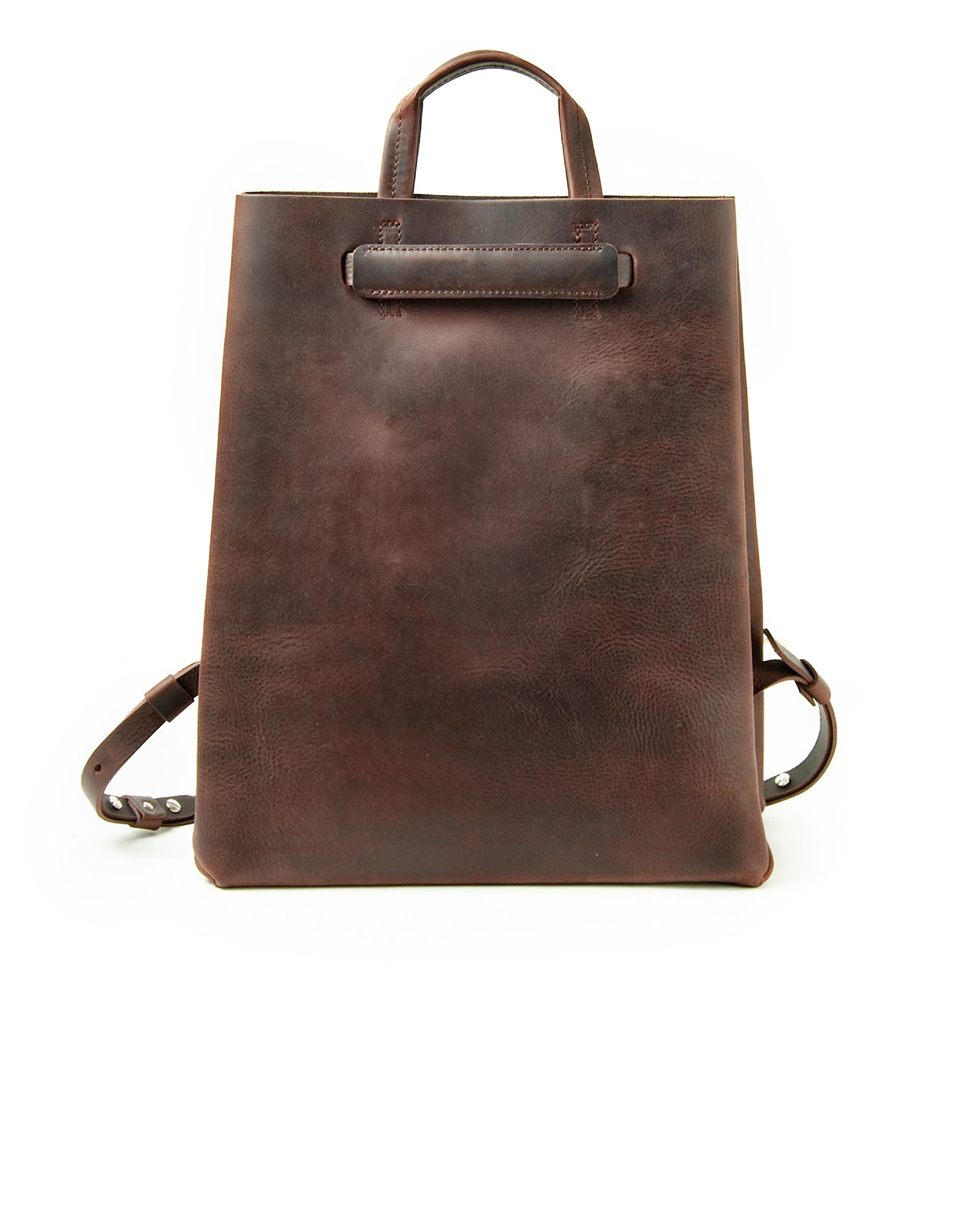 Kraud' Leather paperbag backpack