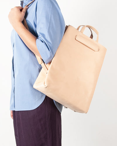 Paperbag Leather paperbag backpack
