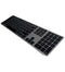Matias FK418BTS Bluetooth Wireless Aluminum Keyboard with Numeric Keypad and 4-Device Sync - Compatible with Mac, iPhone, iPad, Android and Windows PC