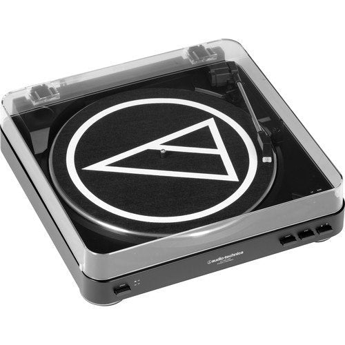 "Audio-Technica AT-LP60-USB Turntable + Blucoil Vinyl Cleaning Brush + 12"" Turntable Slipmat + LP Inner Sleeve"