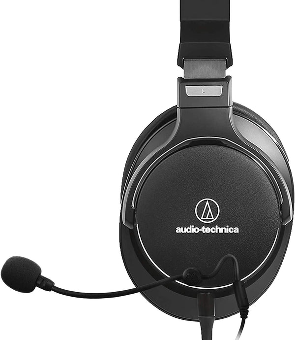 Audio-Technica ATH-MSR7NC Headphones + Antlion Audio ModMic 4 with Mute Switch + USB Soundcard + Blucoil Y Splitter Cable