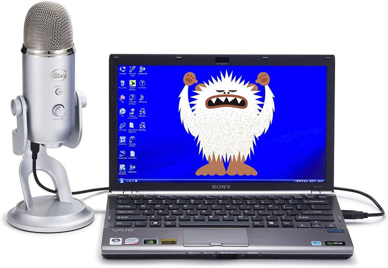 Blue Microphones Yeti USB Condenser Microphone + Blucoil Mini USB Type-C Hub + Pop Filter