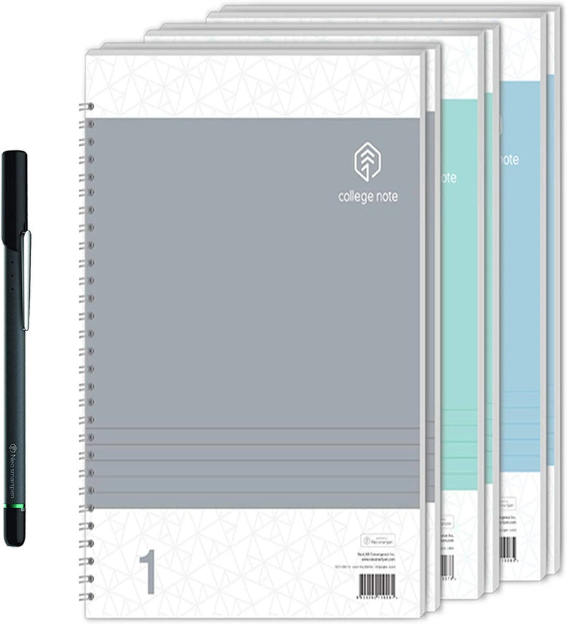 Neo Smartpen N2 for iOS, Android, Windows + 3 Pack of N College or Hardcover Notebook Bundle