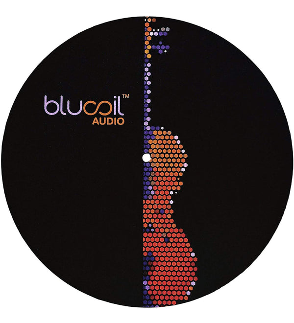 Blucoil 12-inch Turntable Slipmat with 4mm Thickness - LP Protection for DJ and Vinyl Record Players