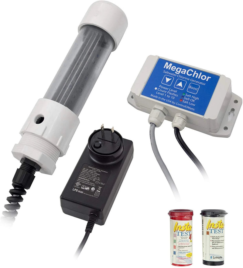 ControlOMatic MegaChlor-CD Saltwater Smart Chlorine Generation System for Pools, Hot Tubs, Spas